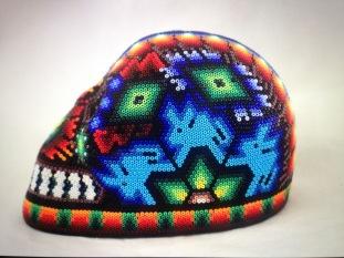 Tête de mort Hikuri cerf-bleu par Jaime. Jalisco