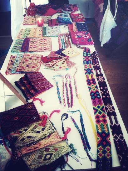 Pochettes, bracelets et ceintures du Chiapas
